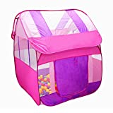 Generic Portable Pink Princess Kids Girls Play House Indoor Outdoor Pop Up Tent Toy