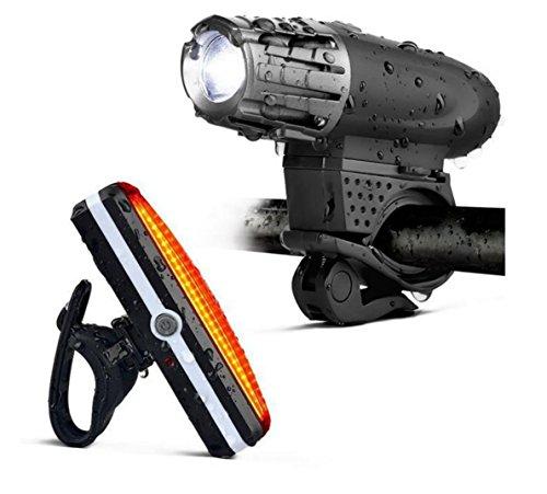 Fahrradbeleuchtung, USB Wiederaufladbare Fahrradbeleuchtung - Premium Fahrradbeleuchtung & LED Fahrrad Rücklicht - Wasserdichte Fahrradbeleuchtung Zubehör Set Für Road & Mountain Radfahren