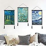 Serie Van Gogh Pintura sofá Fondo Pared decoración Pintura Oficina Sala Pared Colgante Franja Mural C 65 * 45 cm