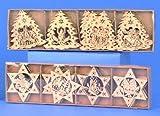 24x Fensterbild Holz Christbaumschmuck Tannenbaum Sterne