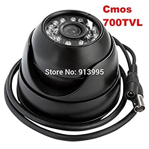 Generic ELP 1/3 CMOS 700TVL Indoor night vision security CCTV dome camera with 24 IR LED for home Surveillance