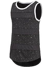 Adidas LG Dy Sw Tank Camisa de Golf, Unisex niños, (Negro/Blanco), 140 (9/10 años)