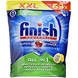 Finish Calgonit tout en 1 citrus,, XXL Pack, 63 Tablettes