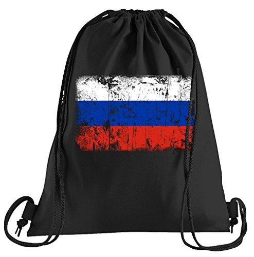 T-Shirt People Russland Vintage Flagge Fahne Sportbeutel – Bedruckter Beutel – Eine schöne Sport-Tasche Beutel mit Kordeln