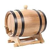 Fûts de chêne for whisky vieillissant, Décanteurs de fûts de chêne destinés au vin, aux spiritueux, à la bière et aux alcools (Color : Blanc, Size : 3L)