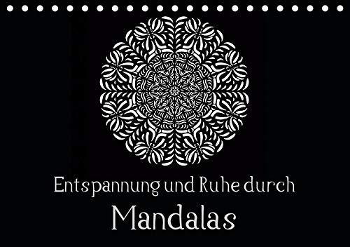 Entspannung und Ruhe durch Mandalas (Tischkalender 2020 DIN A5 quer): Mandalas zum Enspannen und Ausmalen (Monatskalender, 14 Seiten )