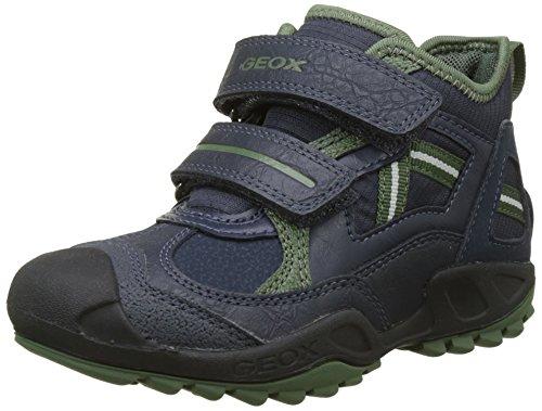 Geox Jungen J New Savage Boy B Hohe Sneaker, Blau (Navy/Green), 25 EU