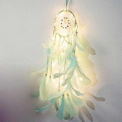 JiaMeng Dreamcatcher 20 LED Lighting Room Dormitorio Romántico Decoración Decoración del hogar