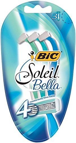 BIC Soleil Bella Nassrasierer Set Frauen (4 Klingen, Für empfindliche Haut) 6 Stück