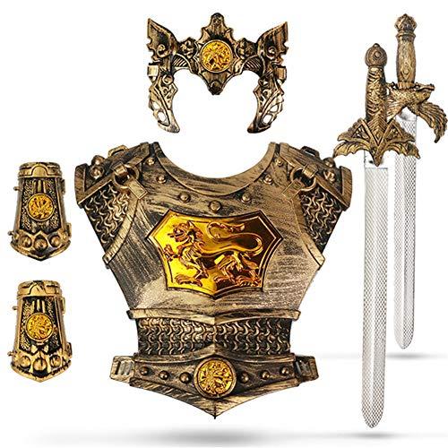 Lvbeis Armatura Cavaliere Medievale-Spada,Paramani dell'armatura,Corazza,Bambini Guerriero Cosplay