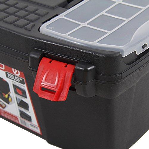 Kunststoff Werkzeugkoffer ERGO Profi 19,5″, 48x26cm Kasten Werzeugkiste Sortimentskasten Werkzeugkasten Anglerkoffer - 3