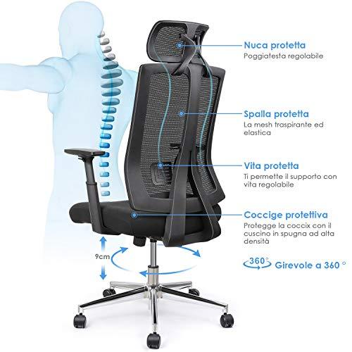 Zoom IMG-3 intey sedia ergonomica per ufficio