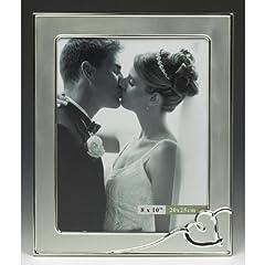 Idea Regalo - Grande cornice Wedding Photo con l'argento di disegno del cuore / cornice