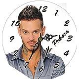Kdomania - Horloge Matt Pokora en bois composite diamètre 20 cm