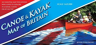 Canoe & Kayak Map of Britain by Rivers Publishing UK