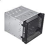 Miss-an 5.25'zu 5x 3.5' SATA SAS HDD Cage Rack Festplattengehäuse mit Lüfter Käfig-Gestell-hartes Fahrer-Behälter-Caddy Mit Ventilator-Raum