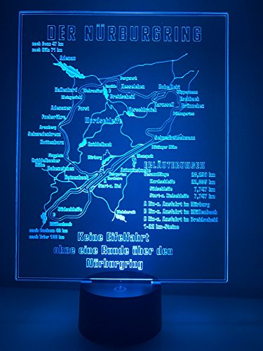 Racetrackart LED Lampe Historisches Schild vom Nürburgring -