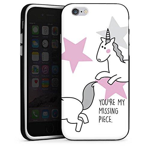 Apple iPhone X Silikon Hülle Case Schutzhülle Einhorn Unicorn Mädchen Spruch Silikon Case schwarz / weiß
