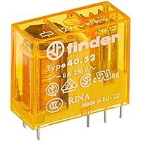 Finder serie 40 - Rele mini reticulado 5mm 2 conmutado 8a 12vac