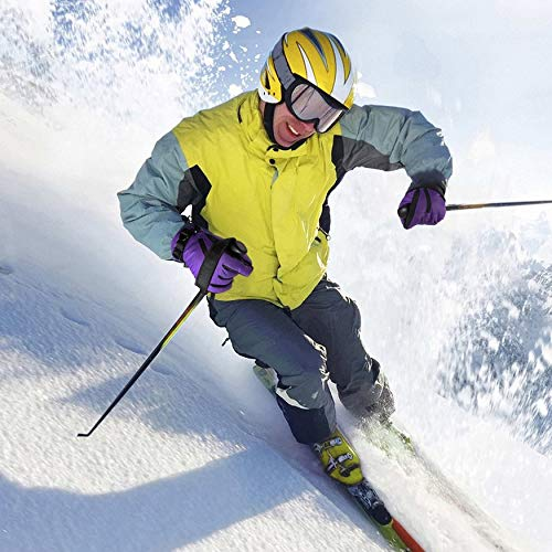 Yaoaomon OUTAD Waterproof Snow Ski Gloves Warm Mountain Climbing Gloves for Women Dark Purple & Black M Black Snow Glove