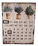 LB H&F Lilienburg Dauerkalender Kalender Blechschild Garten mit Magnet