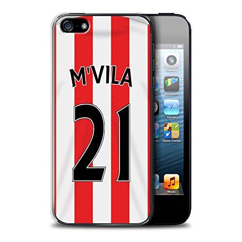 Officiel Sunderland AFC Coque / Etui pour Apple iPhone SE / Pack 24pcs Design / SAFC Maillot Domicile 15/16 Collection M'Vila
