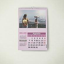 Calendarios personalizados de pared espiral 21 x 30 cm de 14 páginas - Imprime tu pack de 10 calendarios idénticos.