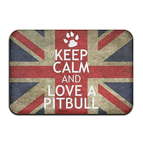 Uosliks Funny Keep Calm and Love A Pitbull Felpudo