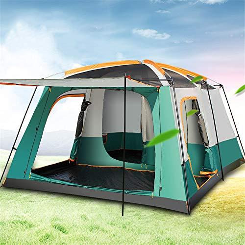 Unbekannt Outdoor Wasserdicht Familienzelt FüR Leichtes Campingzelt Trekking Schlafkabinen Zwei Zimmer 5-8-Personen Tunnel