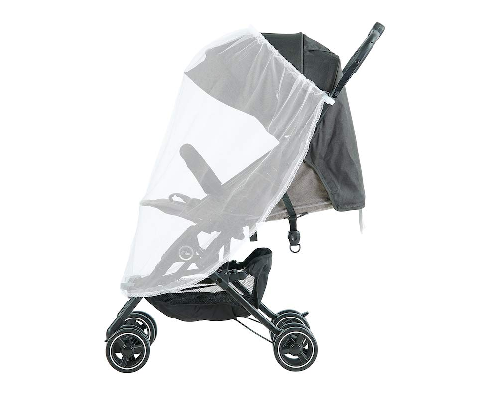 Roma Capsule² Compact Airplane Travel Buggy from Newborn + Rain Cover, Insect Net and Travel Bag, Only 5.6 kgs - Grey with a Black Chassis Roma Compact lie-back stroller - suitable from newborn to 15 kgs Includes rain cover, insect net, travel bag Locked and swivel wheels, shopping basket, 7