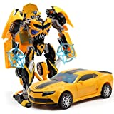 Joykith Transformation Bumblebee Action Toy Deformation Robot Car Figures Gift Model