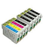 King of Flash Brand New 1 Full Set + 4 Black Compatible Printer Ink Cartridges For Epson T0715+T0711 - Epson Stylus D78, D92, D120, DX4000, DX4050, DX4400, DX4450, DX5000, DX5050, DX6050, DX7000F, DX7400. DX7450, DX8400, DX8450, DX9400, DX9400F, S20, S21, SX100, SX110, SZ105, SX115, SX200, SX205, SX209, SX210, SX215, SX218, SX400, SX405, SX405WIFI, SX410, SX415, SX510W, SX515W, SX600FW, SX610FW,BX310F,BX3450F, BX600FW, BX610FW,B40W