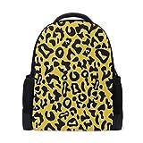 MONTOJ Rucksack/Laptoprucksack aus Polyester, Leopardenmuster, Gelb