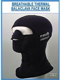 Prolina Floprene neopreno pasamontañas máscara facial Floprene–negro negro negro S