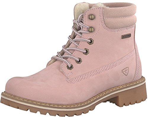 Tamaris Damenschuhe 1-1-26244-29 Damen Stiefel, Boots, Damen Stiefeletten, Herbstschuhe & Winterschuhe für modebewusste Frau rosa (LT.PINK NUBUC), EU 38