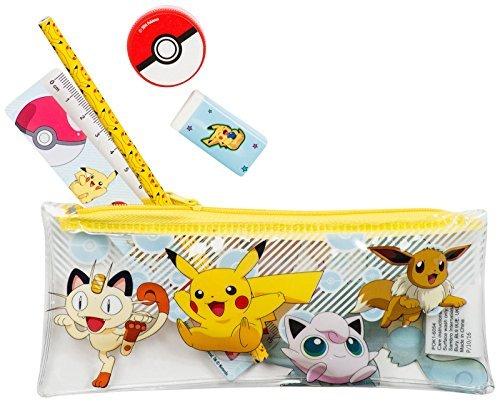 Image of POKEMAN| Filled Pencil Case Set | 5 Pikachu Pokeman Items