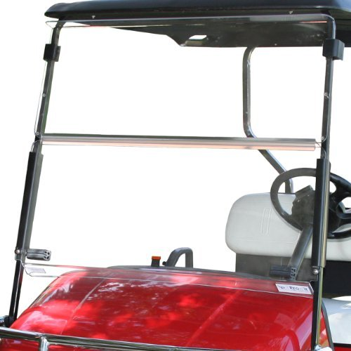 pro-fit-pf10915-clear-split-windshield-for-ezgo-txt-by-pro-fit