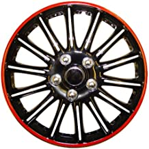 Renault Scenic 14 pulgadas Negro con Rojo Pinstripe Car Hub Caps tapacubos Booster ...