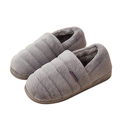 YMFIE Mesdames et messieurs coton chaud hiver chaussures chaussons chaussures matelassé I