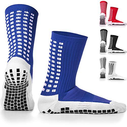 Lux antiscivolo-calze da calcio, calzini antiscivolo, cuscinetti in gomma, trusox/tocksox stile, qualità superiore, pallacanestro, calcio, escursionismo, corsa, in coordinato disponibili in bianco, nero, rosso, blu