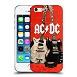 Ufficiale AC/DC ACDC Chitarra Rock Iconico Cover Morbida In Gel Per Apple iPhone 5 / 5s / SE