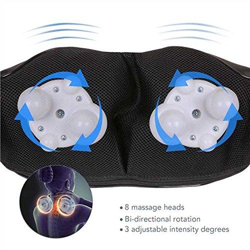 MaxKare Appareil de Massage Sans Fil Shiatsu Masseur Portable pour Dos, Cou, Nuque et Épaules 3D Rotation Bidirectionnelle avec Fonction de ... 7