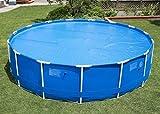 Solar Abdeckplane 300 cm,Solarabdeckplane für Easy set Pool, isolierend, blau,Clim Azur (180g/m2)