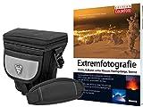 Foto Kamera Tasche Southbull Valley L mit Regencape im Start Set mit Fotofachbuch Extremfotografie