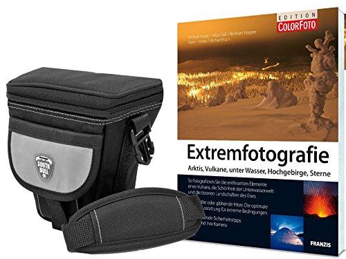fz300 buch Foto Kamera Tasche Southbull Valley L mit Regencape im Start Set mit Fotofachbuch Extremfotografie