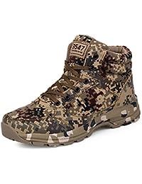 Hombres Mejures Táctico Militares Botas Trekking High Top Combate Zapatos Calentar Nieve Invierno Boots 36-46