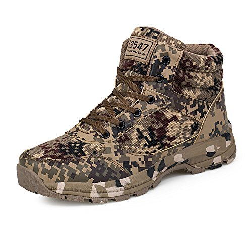 Weien Shop Uomo Donne Boots Militare Tattico Scarpe Safety High Top Inverno Caldo Sicurezza Camouflage Stivali 42