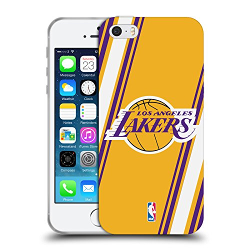 Ufficiale NBA Camouflage Digitale Los Angeles Lakers Cover Morbida In Gel Per Apple iPhone 6 / 6s Righe