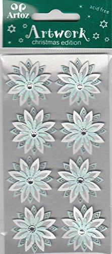 Blanc Bleu pâle Flocon de neige Craft embellissement par Artoz