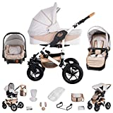 Friedrich Hugo Hamburg | 3 in 1 Kombi Kinderwagen Komplettset |...